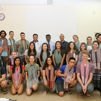 Cambodia BMETs Host January Institute Students