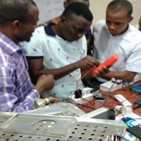 Hands-on Learning at Nigeria BMET Training Program